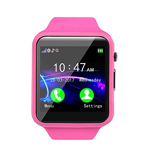 Ears Children Smart Watch Kinder Smart Watch GPS Tracker IP67 Wasserdichte Fitness Uhr SOS Mit Kamera Wrist Watch Sport Male and Female Students Adults Waterproof Smartphone Multifunction (A Rosa) Apple-küche