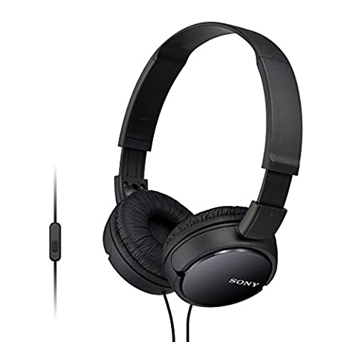 Sony MDR-ZX110APB Casque Pliable avec Microphone -