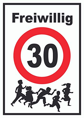 HB-Druck Freiwillig 30 Schild Spielende Kinder A3 (297x420mm)