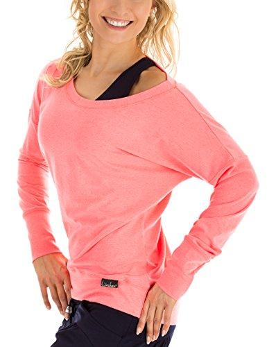 Winshape Damen Freizeit Sport Dance Fitness Longsleeve, Neon Coral, M, WS2