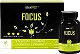 BRAINEFFECT FOCUS   Natürlicher Booster mit Vitamin B5 für Konzentration und Gedächtnisleistung   60 Kapseln   OHNE Koffein   mit CDP-Cholin   Vegan