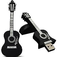 memorias usb 8gb/16gb/32gb, guitarra diseño Sannysis memoria flash Drive de USB 2.0 Almacenamiento de datos externo Apoyos Windows 7/8/98 / Me / 2000 / XP / Vista / Linux 2.4, Mac OS 9.0 y superior (32gb, Negro)