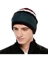 cd79155d85a VR Designers Multi Color Stripes Winter Woolen Cap for Men and Women