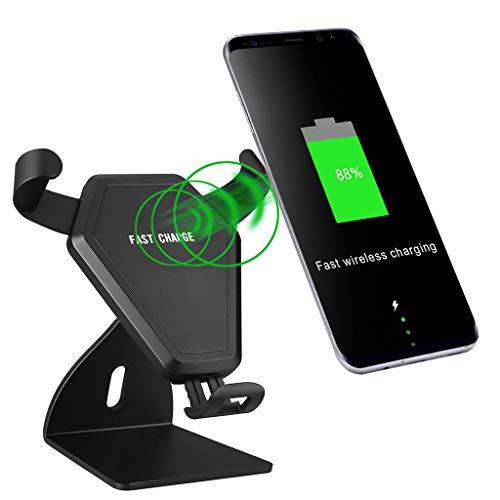 Ladegerät Handyhalterung Halter Auto Handyhalter,Autohalterung Lüftungsschlitz autohandyhalter Halterung Handy Halter Autotelefonhalterung Handhalterung Entlüftung für Handy (schwarz) (Handy-halter-entlüftungs -)