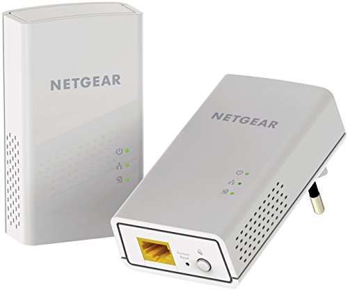 NETGEAR PL1000-100PES Powerline-Adapter (1 x Gigabit-Port, bis zu 1000 Mbit/s, HomePlug AV2) weiß