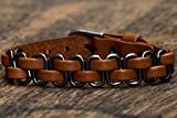 Armband Herren Leder Lederarmband Männer Herrenarmband Biker Echtleder - Made by Nami Hellbraun