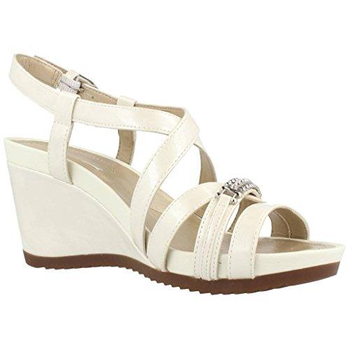 Sandali e infradito per le donne, colore Bianco , marca GEOX, modello Sandali E Infradito Per Le Donne GEOX D NEW RORIE B Bianco Bianco