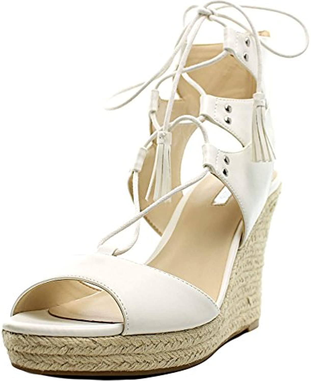 GUESS Frauen Lamba3 Offener Zeh besonderer Anlass Sandalen mit Keilabsatz