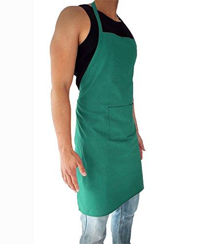 sinnlein® Schürze Kochschürze 8 Farben wählbar Latzschürze Gastronomie Grillschürze Küchenschürze Grün