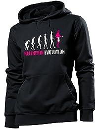 KELLNERIN EVOLUTION - Cooler Comedy Damen Kapuzenpullover S-XL - Deluxe