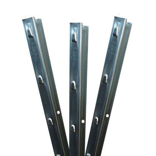Aquagart Z-Profil Zaunpfosten 1,5 m verzinkt I 15 Stück Metallzaunpfosten aus Bandstahl 1,2mm stark I hochwertige Zaunpfähle für Wildzaun Weidezaun Drahtzaun Wildschutzzaun Knotengeflecht Zaun