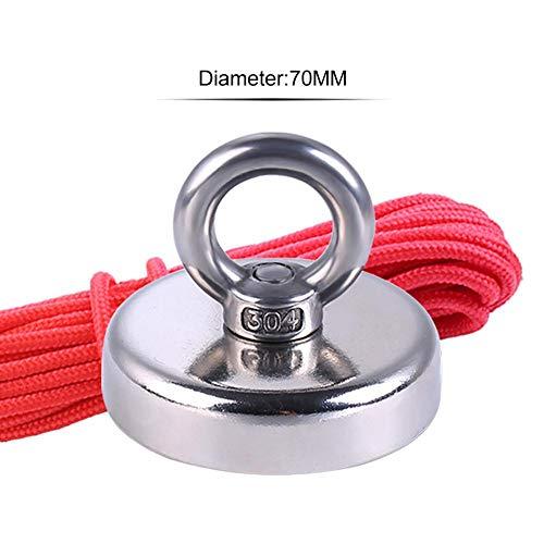kelihood Angeln Magnet Ring Starkes Magnetfeld Anti-Kollision Und Anti-Fall 10 Meter Langen Seils Und 110 Kg Zugkraft