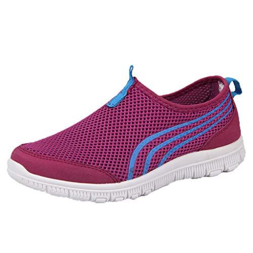 Loafer Weichen Sohlen Leder Schuhe (Sommer Mesh Sneaker Damen,Frauen Atmungsaktiv Casual Sport Laufschuhe Low-Top Loafers Weiche Schuhe Mode Fitness Freizeitschuhe)
