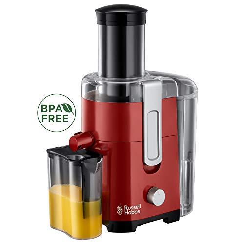 Russell Hobbs Entsafter Desire, extra große Einfüllöffnung f. ganzes Obst & Gemüse, 2 Geschwindigkeitsstufen, 750ml Saftbehälter, 2,0l Fruchtfleischbehälter, BPA-frei, elektrische Saftpresse 24740-56