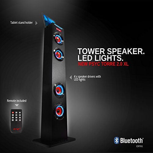 Sumvision PYSC Wireless Bluetooth LED Tower Speaker Torre