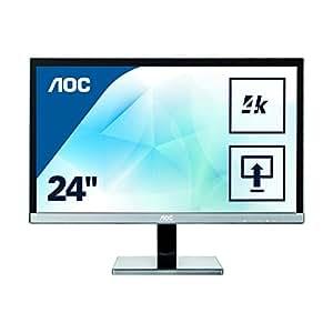 """AOC U2477PWQ Ecran PC LED 23,6"""" Noir 1920x1080 VGA/DVI/HDMI"""