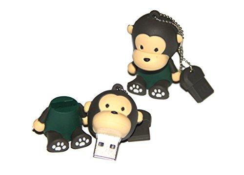 Tomax scimmia con la camicia verde come una chiavetta USB con 32 GB USB Flash Drive Memory Stick