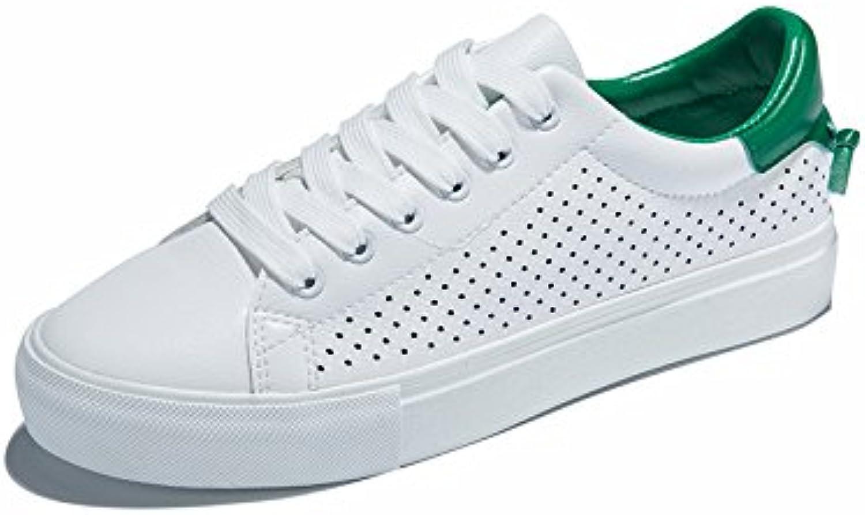 NGRDX&G Zapatos Blancos Femeninos Zapatos De Lona Transpirables Zapatos Ocasionales De Los Deportes De Las Mujeres...