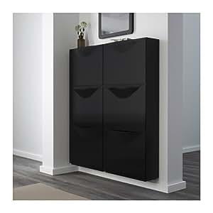 IKEA TRONES Armoire à chaussures / rangement pour chaussures, noir - 51 x 39 cm: Amazon.fr ...