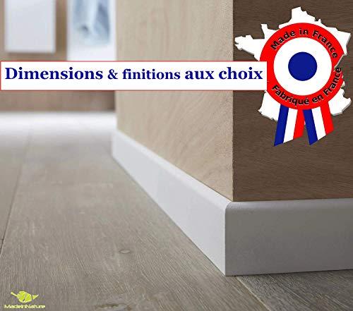 Plinthe en médium prépeinte blanche de très grande qualité - fabrication FRANCAISE - différentes...