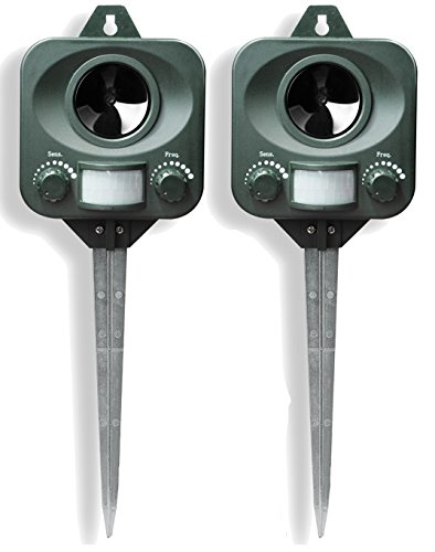 Set of 2 PestBye Ultrasonic Battery Operated Motion Activated Cat Repellent
