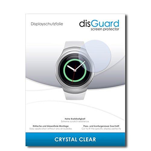 disGuard® Bildschirmschutzfolie [Crystal Clear] kompatibel mit Samsung Gear S2 classic [4 Stück] Kristallklar, Transparent, Unsichtbar, Extrem Kratzfest, Anti-Fingerabdruck - Panzerglas Folie, Schutzfolie