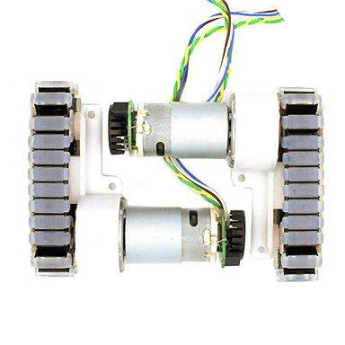Module & Accessory Für Arduino-Kits DIY Getriebemotor mit Gebläsekühlung für Roboter/Fahrwerk Fahrzeug/2-Rad-Antrieb/2-Speed-Encoder/für Arduino Raspberry Pi Für Arduino. - Fahrwerk-modul