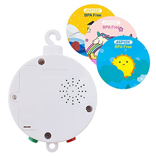 FITNATE Elektrische Baby Spieluhr Bettzubehör Musical Mobile spielt Zwölf Melodien