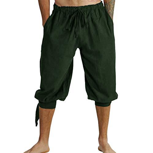 WEIMEITE Renaissance Mittelalter Irish Peasant Pirate Kostüm Männer Lose Viking Pant Hosen Männer Cosplay Kostüm Hosen
