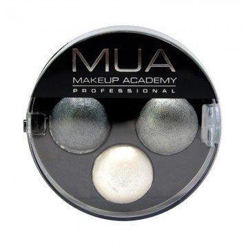 Mua Professional Makeup - Trio Eyeshadow - Smoke Screen-Grey/Silver-NEW