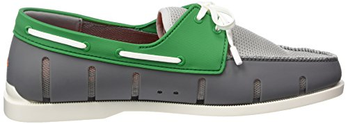 Swims Boat Loafer, Chaussures bateau homme Multicolore - Mehrfarbig (Gray/Green 330)