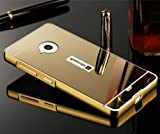 D-kandy Luxury Metal Bumper + Acrylic Mirror Back Cover Case For Microsoft Nokia Lumia 535 - Gold