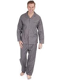 Hombre Perchado 100% pura% Pijama De Algodón Cálido De Invierno Franela Térmico ...