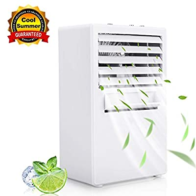 Winload Mini Air Cooler, 3-in-1 Personal Space Air Conditioner Fan, Personal Space Air Cooler, Desktop Misting Cooling Fan for Office and Home, 3 Adjustable Speeds