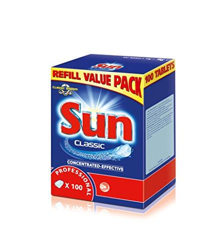 Sun Professional 100949339 Classic Tabs Value Pack, Reiniger für die Spülmaschine, wasserlösliche Folie, Spülmaschinentabs