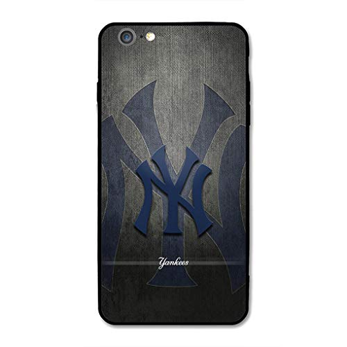 iPhone 7 iPhone 8 Baseball Hülle, Acryl PC Back Cover TPU Silikon 2 in 1, Handyhülle entworfen für Apple iPhone 7/8 4,7 Zoll, Black-Yankees, iPhone 7 iPhone 8 -