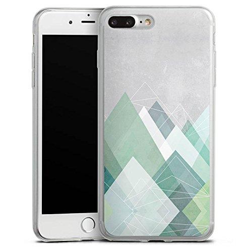 Apple iPhone X Slim Case Silikon Hülle Schutzhülle Berge Abstrakt Grafik Silikon Slim Case transparent