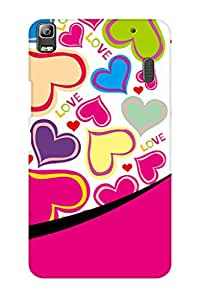AMAN Love Pink 3D Back Cover for Lenovo A7000
