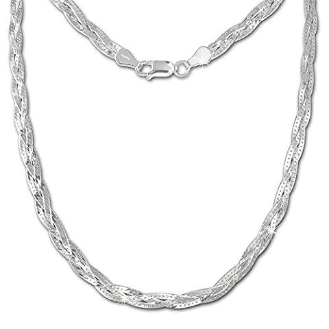 SilberDream Halskette geflochten 925 Sterling Silber Damen 45cm SDK28345J