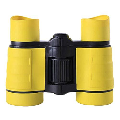Ogquaton 4X Vergrößerung 30mm Objektiv Bunte Kinder Kind Mini Kompass Fernglas Spielzeug - Gelb Langlebig und nützlich
