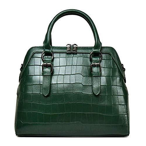 Borsa a mano da donna borsa multicolore vintage in pelle multicolore, borsa a tracolla con tracolla, per lo shopping grande capienza, nero, rosso-green