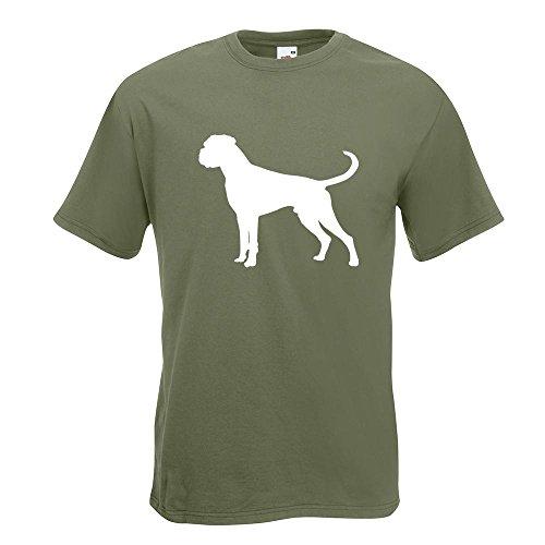 KIWISTAR - Deutscher Boxer German Hund T-Shirt in 15 verschiedenen Farben - Herren Funshirt bedruckt Design Sprüche Spruch Motive Oberteil Baumwolle Print Größe S M L XL XXL Olive