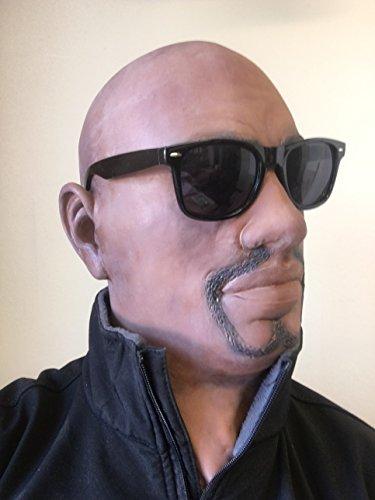 b777a2c0cc5836 Réaliste Masque Latex Noir Homme Man Déguisement Déguisement Halloween  Barbe Bouc