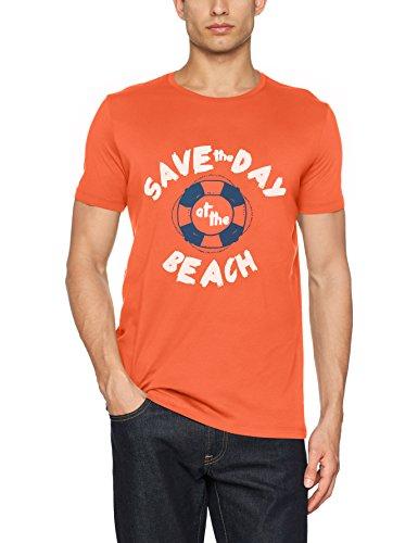 ESPRIT Herren T-Shirt Rot (Coral 645)