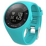 para reloj polar m200 correas 6 colores bandas de reemplazo suave silicona correas pulsera para POLAR M200 GPS reloj smartwatch, ancho de banda 20MM by Sannysis (azul)