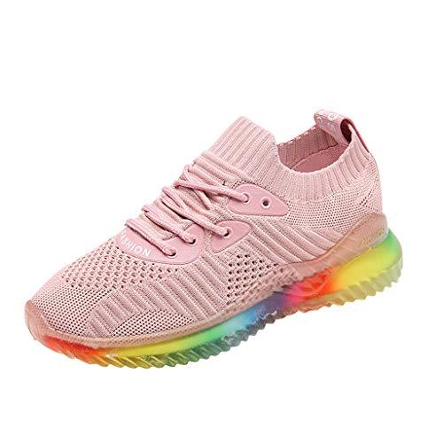 Lilicat Unisex Scarpe da Running Sportive Corsa Ginnastica Outdoor Multisport Shoes Traspiranti Confortevoli A Colori Viaggio Fitness Casual Trekking All'Aperto Sneakers(Rosa,40 EU)