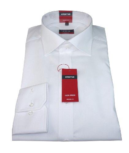 eterna Herren Hemd modern fit Uni Popeline weiß Gr. 38 - 46 (41) (Herren Hemden-popeline)