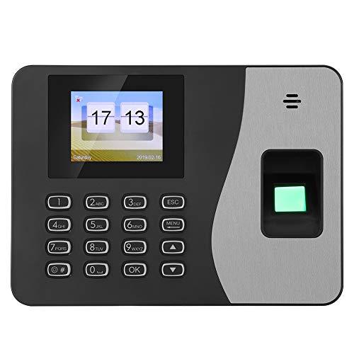 Rilevatore Presenze Dipendenti, Schermo LCD TFT Da .4 Pollici Impronta Digitale Biometrica Password Assistente Macchina Registratore Per Il Check-In Degli Ingressi E Delle Uscite Di Ufficio(Europa)