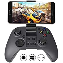 (Renewed) MYGT C04 Wireless Bluetooth Gamepad Controller for PC, PS3, Android Devices and Mobile Phones (Does not Support PUBG & Fortnite Games) Black