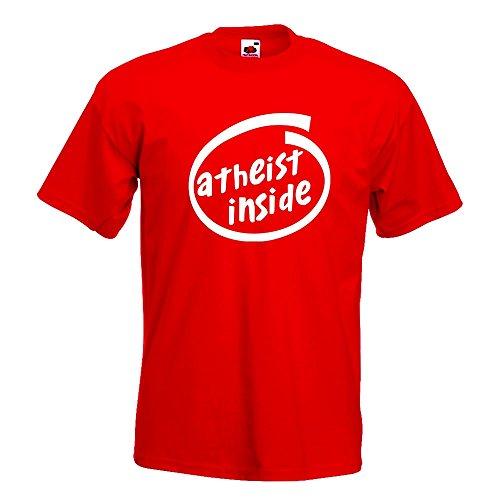 KIWISTAR - Atheist Inside T-Shirt in 15 verschiedenen Farben - Herren Funshirt bedruckt Design Sprüche Spruch Motive Oberteil Baumwolle Print Größe S M L XL XXL